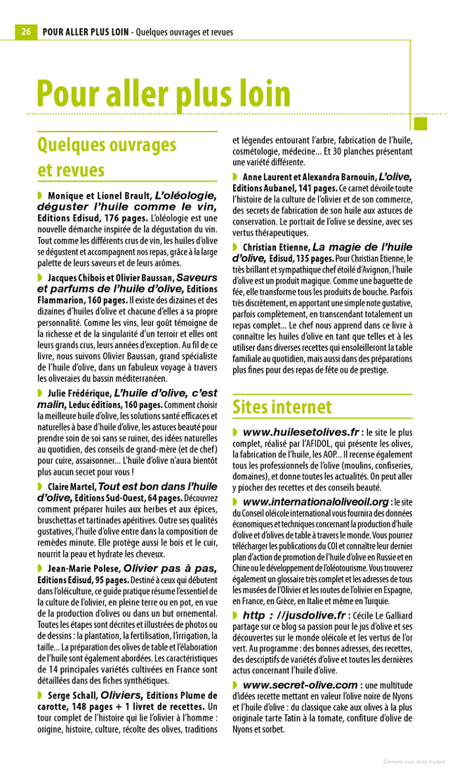 Guide de l'amateur de l'huile d'olive, Le petit futé, édition 2013
