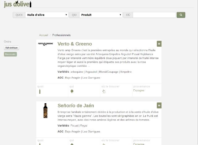 Guide de professionnels de l'huile d'olive