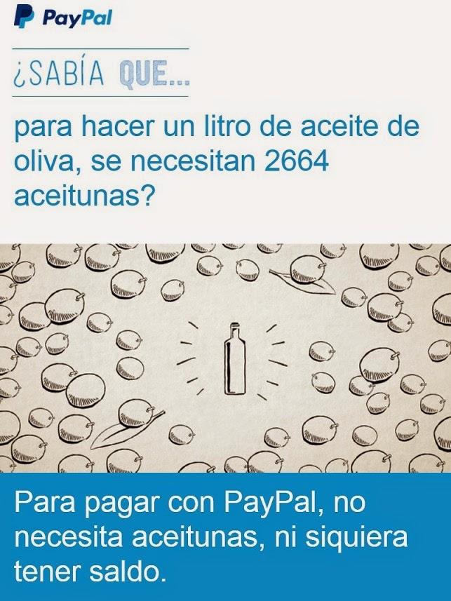 Campagne de promotion de Pay Pal en Espagne reçu par mail