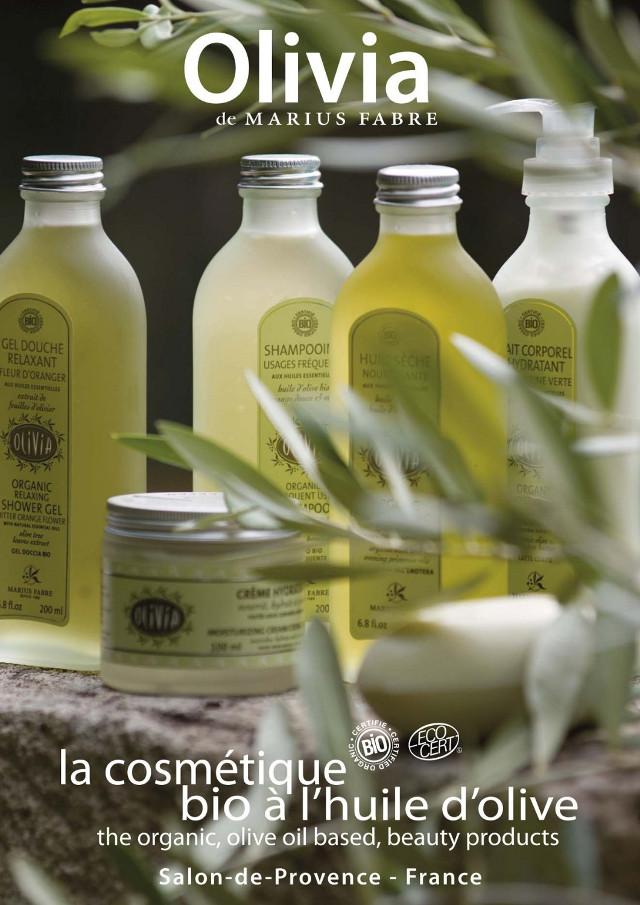 produits dd beauté à base d'huile d'olive