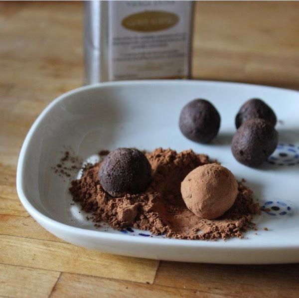 truffes chocolat huile d'olive