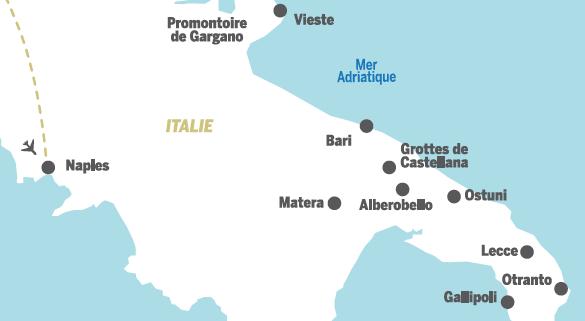 carte italie les pouilles
