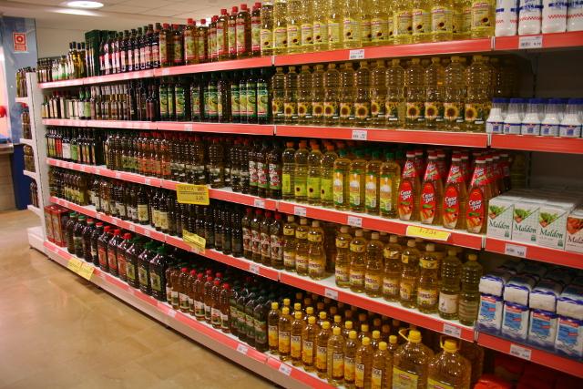 aceite de oliva en un supermercado