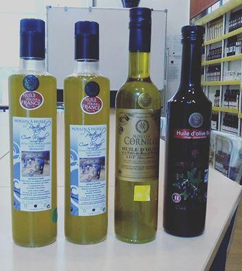huiles choisies pour le bar à huiles d'olive