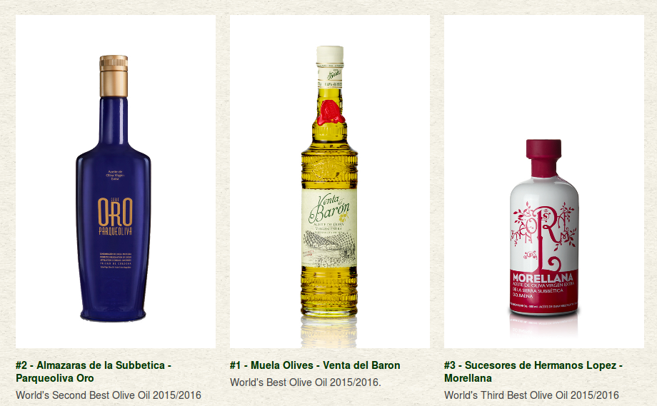 meilleures huiles d'olive 2016