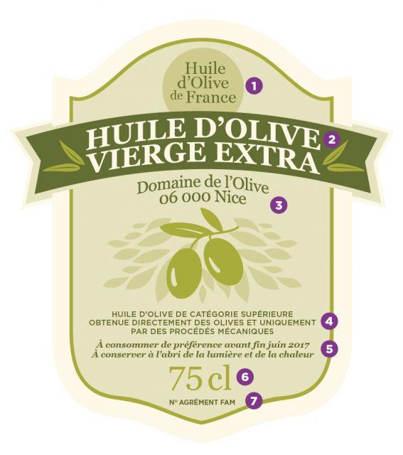 Savoir lire une étiquette d'huile d'olive