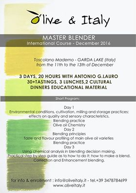 cours blend huile d'olive 2016 italie