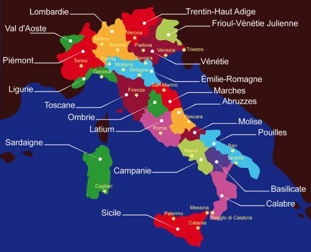italie huile d'olive region de l'huile d'olive