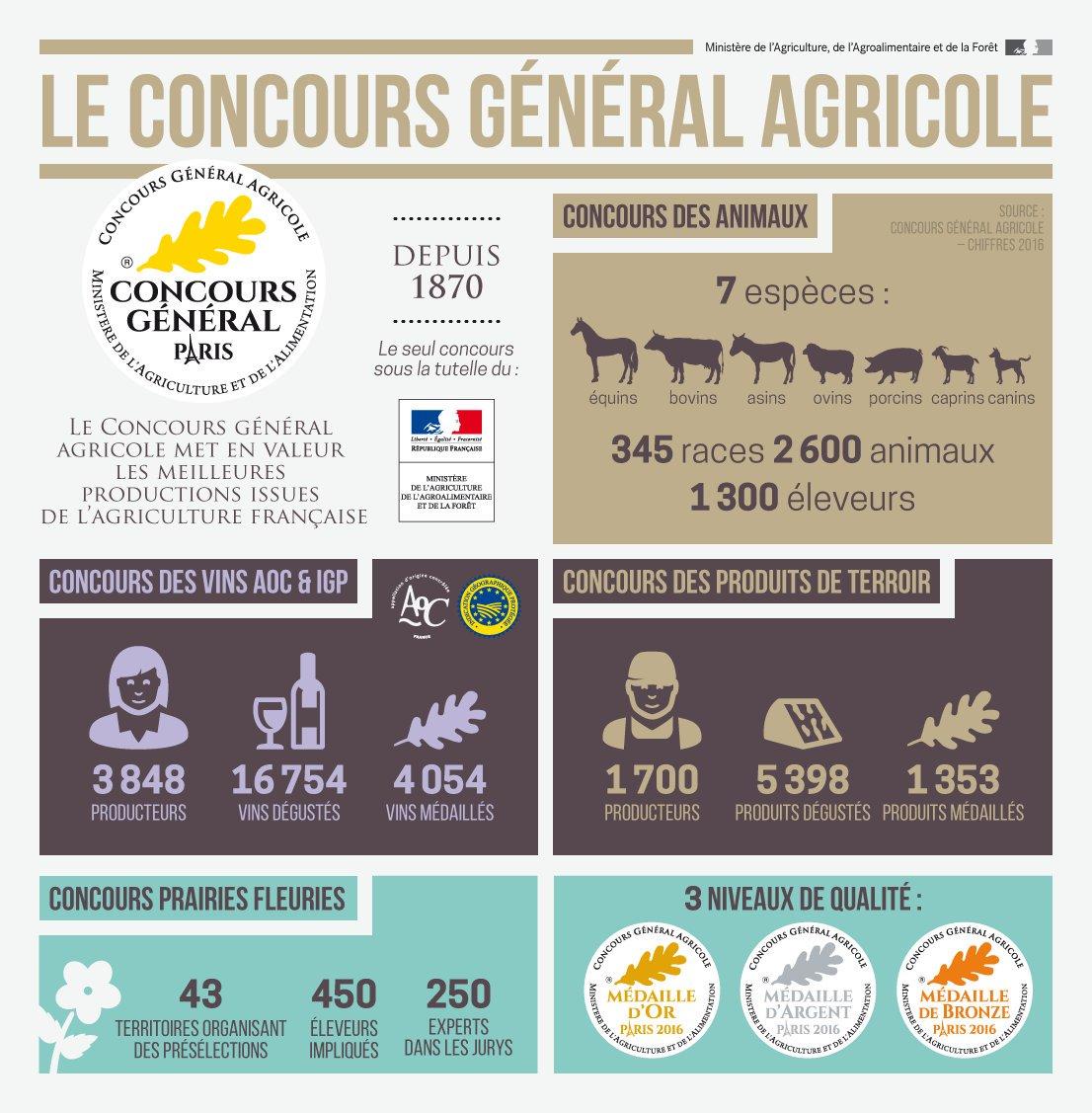 infographie le concours agricole en chiffres