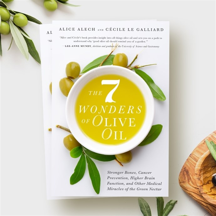 "nouvelle edition livre ""the seven wonders of olive oil"""